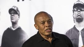 """Dr. Dre em lançamento de """"Straight Outta Compton"""" em Los Angeles.  14/8/2015. REUTERS/Mario Anzuoni"""