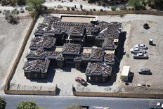 A Cathedral City, en Californie. Les mises en chantier de logements aux Etats-Unis se sont rapprochées d'un pic de huit ans en juillet (+0,2% en rythme annuel) avec l'accélération de la construction de maisons individuelles, nouvel argument alimentant les anticipations d'un relèvement des taux dès le mois prochain par la Réserve fédérale. /Photo prise le 13 avril 2015/REUTERS/Lucy Nicholson