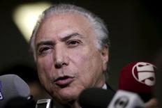 Vice-presidente Michel Temer em Brasília 6/8/ 2015 REUTERS/Ueslei Marcelino