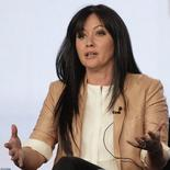 "Actress Shannen Doherty takes part in a panel discussion for the reality show ""Shannen Says"" at AMC's TCA Winter Press Tour in Pasadena, California January 14, 2012. REUTERS/Jonathan Alcorn"