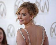 Jennifer Lawrence durante premiação em Los Angeles.  24/1/2015. REUTERS/Phil McCarten