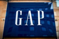 The sign for a Gap store is seen on 5th avenue in midtown Manhattan in New York June 16, 2015. REUTERS/Brendan McDermid