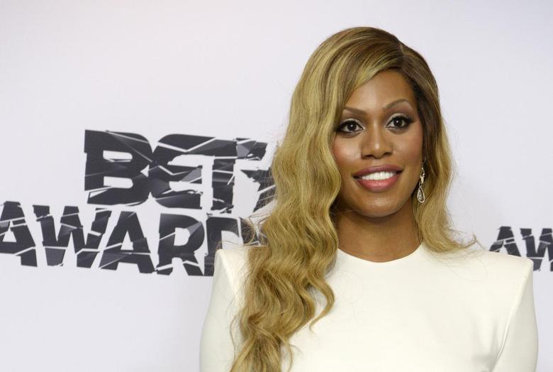 Actress Laverne Cox poses backstage during the 2015 BET Awards in Los Angeles, California in this June 28, 2015 file photo. REUTERS/Phil McCarten/Files