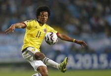 Juan Cuadrado, da seleção da Colômbia, durante partida contra a Argentina pelas quartas de final da Copa América em Viña del Mar, no Chile. 26/06/2015 REUTERS/Ueslei Marcelino