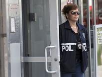 Les bureaux de Rentboy.com à Manhattan, à New York. Les autorités américaines ont annoncé mardi avoir arrêté le dirigeant du site internet et six de ses employés. Ils sont accusés d'avoir organisé un système de prostitution masculine. /Photo prise le 25 août 2015/REUTERS/Brendan McDermid