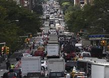 A heavy traffic jam on New York's 2nd Avenue builds up during the United Nations General Assembly in New York on September 26, 2013. REUTERS/Zoran Milich
