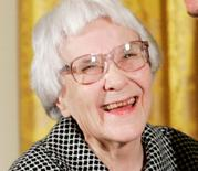 American novelist Harper Lee is rewarded the Presidential Medal of Freedom in the East Room of the White House, November 5, 2007.      REUTERS/Larry Downing