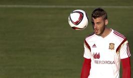 David De Gea durante treino da seleção espanhola em Las Rozas, próximo a Madri.  02/09/2015   REUTERS/Susana Vera