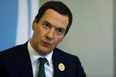 El ministro de Finanzas británico, George Osborne, responde una pregunta durante una entrevista con Reuters en Ankara, capital de Turquía, el 5 de septiembre del 2015.  Los ministros de Finanzas del G-20 coinciden en la necesidad de llevar a cabo reformas estructurales para alentar la productividad en lugar de apelar a una política monetaria laxa, dijo el sábado el representante británico. REUTERS/Umit Bektas