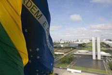 Bandeira do Brasil no Congresso Nacional. 19/11/2014 REUTERS / Ueslei Marcelino