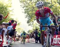 Astana's Fabio Aru of Italy rides during the 16th stage of the Vuelta Tour of Spain cycling race from Luarca to Ermita del Alba, northern Spain, September 7, 2015. REUTERS/Joseba Etxaburu