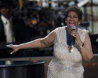 BET honoree singer Aretha Franklin performs onstage at BET Honors 2014 at Warner Theatre in Washington on February 8, 2014. REUTERS/Jose Luis Magana
