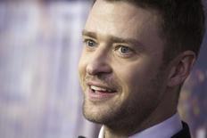 Justin Timberlake durante evento em Nova York.  15/2/2015.       REUTERS/Carlo Allegri