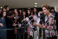 Presidente Dilma Rousseff no Palácio do Planalto. 15/9/2015 REUTERS/Ueslei Marcelino