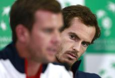 Tennis - Great Britain v Australia - Davis Cup Semi Final - Emirates Arena, Glasgow, Scotland - 16/9/15 Great Britain's Andy Murray during the press conference Action Images via Reuters / Jason Cairnduff Livepic