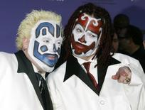 Members of the Insane Clown Posse pose as they arrive at the 2003 Billboard Music Awards at the MGM Grand Garden Arena in Las Vegas, Nevada, in this file photo from December 10, 2003. REUTERS/Fred Prouser/Files