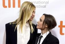 "Actress Ellen Page arrives with her girlfriend, Samantha Thomas, on the red carpet for the film ""Freeheld"".  REUTERS/Mark Blinch"