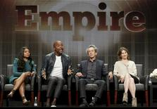 "(L-R) Cast member Taraji P. Henson, executive producer Lee Daniels, executive producer Brian Grazer, and executive producer Ilene Chaiken participate in the FOX ""Empire"" panel at the Television Critics Association (TCA) Summer 2015 Press Tour in Beverly Hills, California August 6, 2015.  REUTERS/Jonathan Alcorn"