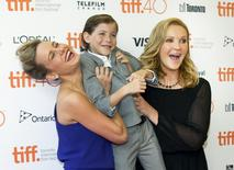 "Actor Brie Larson, Jacob Trembley and Joan Allen arrive for the premiere of the movie ""Room"" during the 40th Toronto International Film Festival in Toronto, Canada, September 15, 2015.  REUTERS/Fred Thornhill"