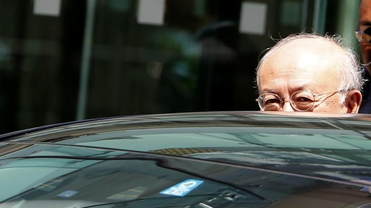 International Atomic Energy Agency director-general Yukiya Amano leaves Palais Coburg, the venue for nuclear talks in Vienna, Austria, July 4, 2015. REUTERS/Leonhard Foeger/Files