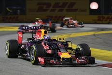 Daniel Ricciardo, da Red Bull, no GP de Cingapura. Action Images/Hoch Zwei Livepic