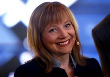 General Motors CEO Mary Barra is pictured during the media day at the Frankfurt Motor Show (IAA) in Frankfurt, Germany in this September 15, 2015, file photo.  REUTERS/Kai Pfaffenbach/Files
