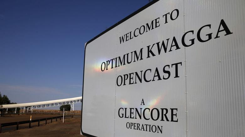 图为嘉能可在南非姆普马兰加省拥有的一处煤矿入口。REUTERS/Siphiwe Sibeko