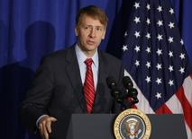 Consumer Financial Protection Bureau Director Richard Cordray speaks in Washington, October 17, 2014.       REUTERS/Larry Downing
