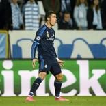 Cristiano Ronaldo comemora gol do Real sobre o Malmo.  30/9/2015. REUTERS/Anders Wiklund/TT News Agency