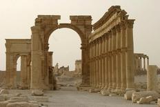 Colunas da cidade histórica de Palmyra, na Síria.  01/09/2015   REUTERS/Gustau Nacarino