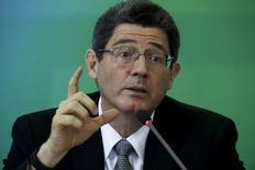 Ministro da Fazenda, Joaquim Levy, durante evento em Brasília.  14/09/2015   REUTERS/Ueslei Marcelino