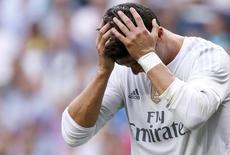 Cristiano Ronaldo durante partida do Real Madrid, na Espanha.  26/09/2015   REUTERS/Juan Medina