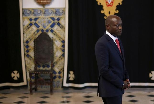 Guinea-Bissau's President Jose Mario Vaz arrives to speak with journalists after a meeting with his Portuguese counterpart Anibal Cavaco Silva (not pictured) at Belem presidential palace in Lisbon June 19, 2014. REUTERS/Rafael Marchante