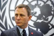 Daniel Craig em evento na sede da ONU, em Nova York. 14/04/2015 REUTERS/Lucas Jackson