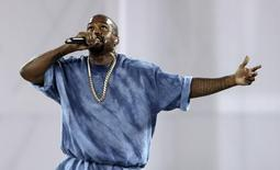 Jul 26, 2015; Toronto, Ontario, CAN; Recording artist Kanye West performs during the closing ceremony for the 2015 Pan Am Games at Pan Am Ceremonies Venue. Matt Detrich-USA TODAY Sports