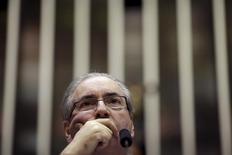 Presidente da Câmara dos Deputados, Eduardo Cunha (PMDB-RJ), em sessão em Brasília.  22/09/2015   REUTERS/Ueslei Marcelino