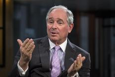 "Stephen A. Schwarzman, Chairman and Chief Executive Officer of The Blackstone Group, speaks during an interview with Maria Bartiromo, on her Fox Business Network show; ""Opening Bell with Maria Bartiromo"" in New York February 27, 2014. REUTERS/Brendan McDermid"