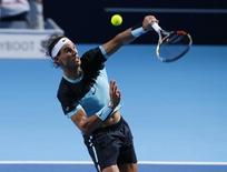 Espanhol Rafael Nadal durante jogo contra o tcheco Lukas Rosol na Basileia, Suíça, nesta segunda-feira. 26/10/2015 REUTERS/Arnd Wiegmann