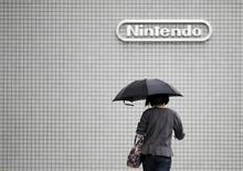 Logo da Nintendo visto em prédio da companhia em Tóquio.  07/05/2015     REUTERS/Toru Hanai