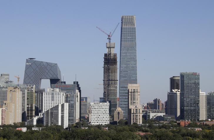 图中为北京国贸一景。REUTERS/Jason Lee