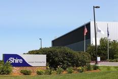 La planta de manufacturas de Shire, en Lexington, Massachusetts, 18 de julio de 2014. La farmacéutica Shire Plc dijo que comprará a Dyax Corp por alrededor de 5.900 millones de dólares para tener acceso a su tratamiento experimental en etapa final para combatir una grave enfermedad inflamatoria que puede obstruir la respiración. REUTERS/Brian Snyder
