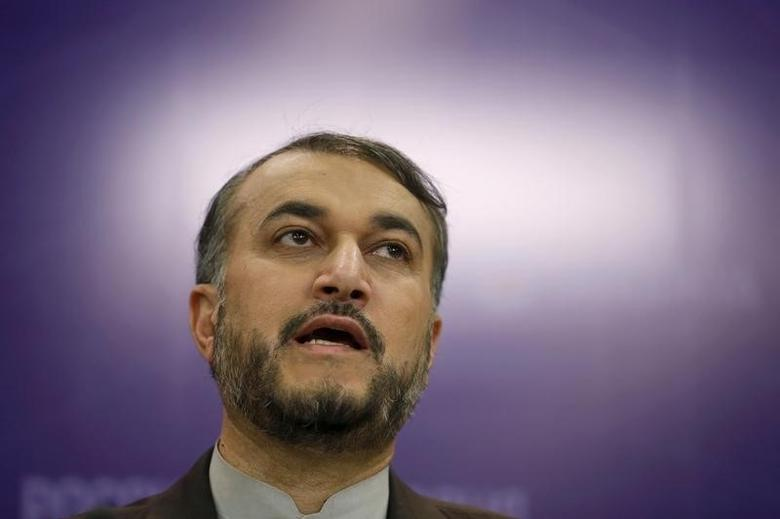 Iran's Deputy Foreign Minister Hossein Amir-Abdollahian speaks during a news conference in Moscow, Russia, September 22, 2015. REUTERS/Maxim Zmeyev