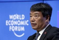 Presidente da Comissão Nacional de Desenvolvimento e Reforma da China, Xu Shaoshi, durante evento na cidade chinesa de Dalian.   09/09/2015   REUTERS/Jason Lee