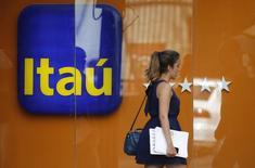 Logo do Itaú visto em filial no Rio de Janeiro.   29/01/2014  REUTERS/Sergio Moraes