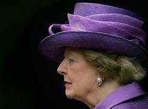 Ex-líder britânica Margaret Thatcher durante evento em Berkshire, na Inglaterra.   14/06/2007    REUTERS/Cathal McNaughton/Pool