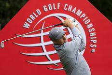 Jordan Spieth of the U.S. tees off on the fourth hole during the pro-am of the WGC-HSBC Champions golf tournament in Shanghai, China, November 4, 2015. REUTERS/Aly Song