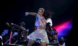 Katy Perry durante show no Rock in Rio. 28/9/2015. REUTERS/Pilar Olivares
