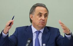 Ministro dos Esportes da Rússia Mutko concede entrevista em Moscou.  8/7/2015. REUTERS/Maxim Shemetov