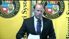 The University of Missouri's president Tim Wolfe resigns after protests over his handling of racial tensions on campus.