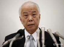 Takata Corp Chief Financial Officer Yoichiro Nomura speaks during a news conference in Tokyo, Japan,  November 6, 2015. REUTERS/Toru Hanai  -